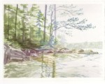 """Card -""""Maine"""" - Watercolor painting by NMSG"""