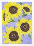 """Card -""""Sunflowers"""" - Watercolor painting by NMSG"""