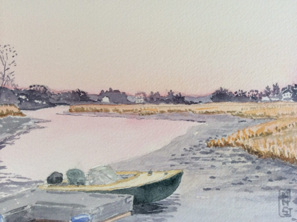 Watercolor painting by NMSG