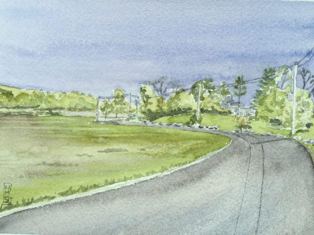 Island Road Essex watercolor NMSG