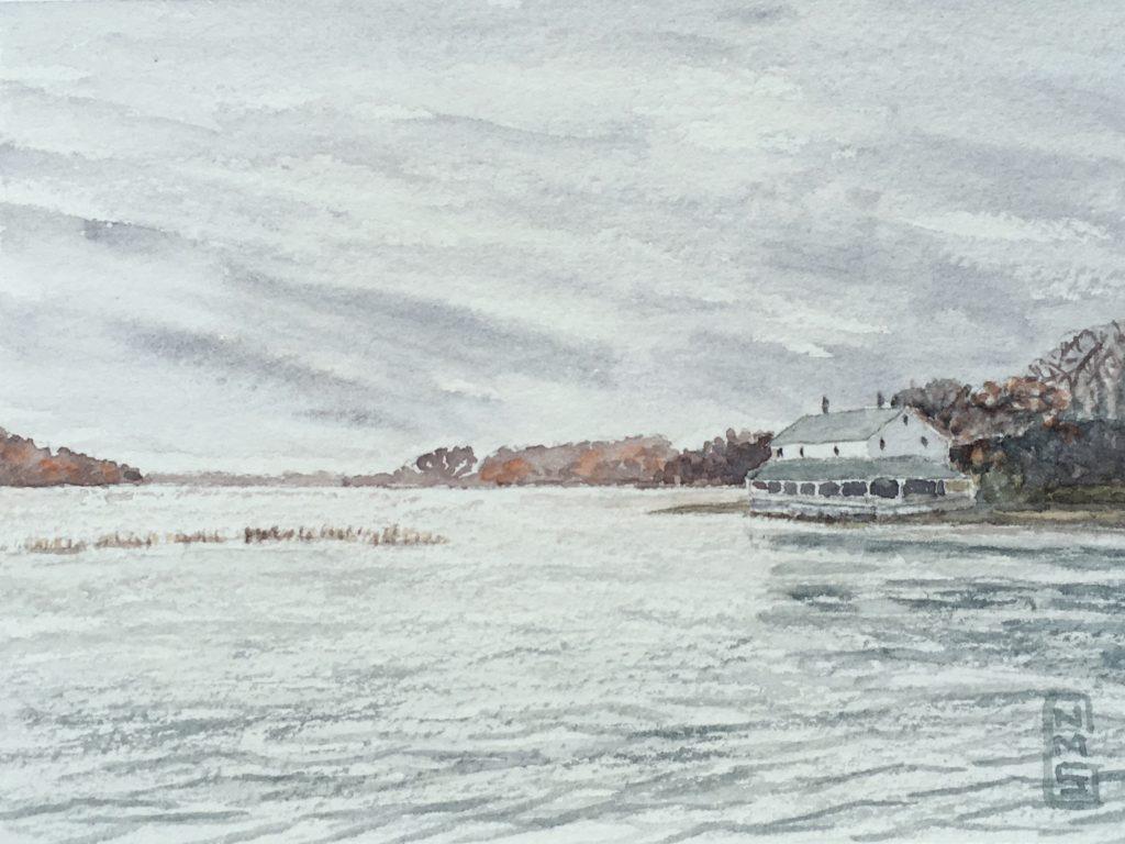 Flooded Saltmarsh watercolor NMSG