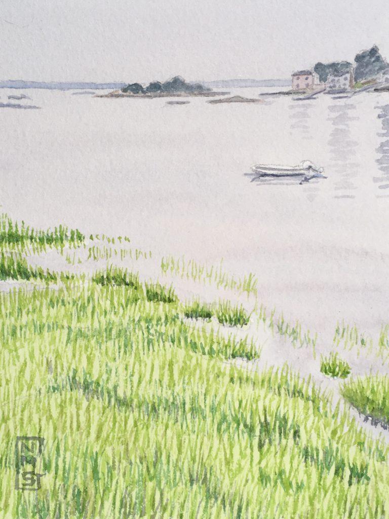 Wonson Cove watercolor NMSG
